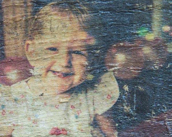Foto impressa na madeira