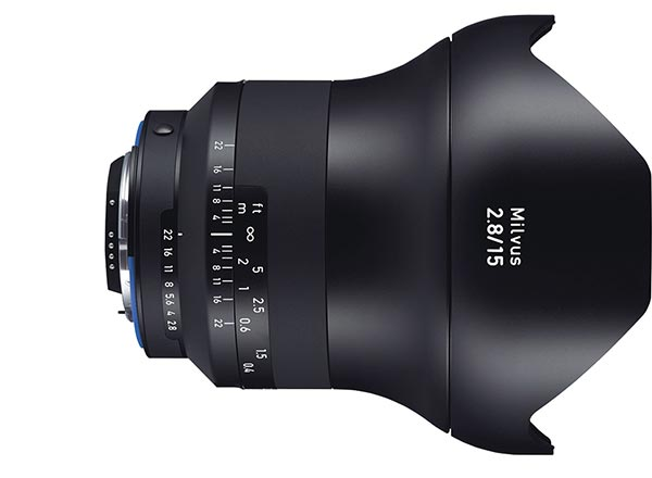 Zeiss Milvus 15 mm f/2.8